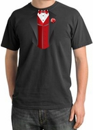 Tuxedo T-Shirts Pigment Dyed With Red Vest