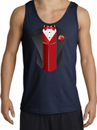 Tuxedo Tank Tops With Red Vest