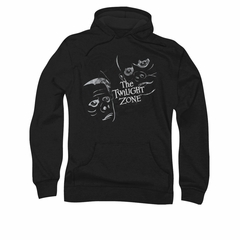 Twilight Zone Hoodie Faces Black Sweatshirt Hoody