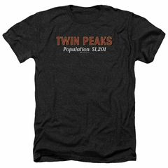 Twin Peaks Shirt Population 2 Heather Black T-Shirt