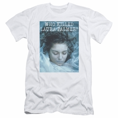 Twin Peaks Slim Fit Shirt Who Killed Laura White T-Shirt