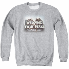 Twin Peaks Sweatshirt Welcome Adult Athletic Heather Sweat Shirt
