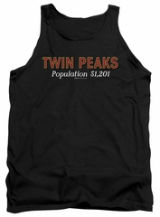 Twin Peaks Tank Top Population 2 Black Tanktop