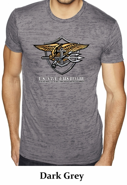 U.S. Navy Seal Shirt Devgru Mens Burnout Tee T-Shirt - US Navy Seal ... 2721078b6fe