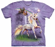 Unicorn Kids Shirt Tie Dye Rainbow Horse Castle T-shirt Tee Youth