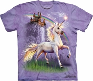 Unicorn Shirt Tie Dye Horse Castle T-shirt Adult Tee