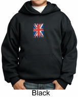 Union Jack Hoodie British UK Flag Small Print Youth Hoody
