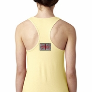 Union Jack Patch Back Print Ladies Ideal Tank Top