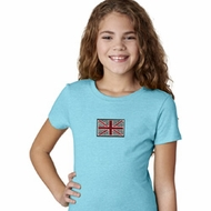 Union Jack Patch Kids Middle Print Shirts