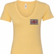 Union Jack Patch Ladies Pocket Print Shirts