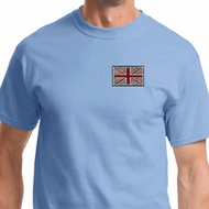 Union Jack Patch Mens Pocket Print Shirts