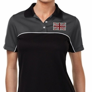 Union Jack Patch Pocket Print Ladies Polo Shirt