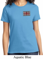 Union Jack Patch Pocket Print Ladies Shirt