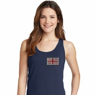 Union Jack Patch Pocket Print Ladies Tank Top
