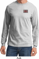Union Jack Patch Pocket Print Long Sleeve Shirt