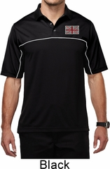 Union Jack Patch Pocket Print Mens Polo Shirt