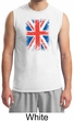 Union Jack Shirt British UK Flag Big Print Adult Muscle Shirt