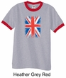 Union Jack Shirt British UK Flag Big Print Adult Ringer Shirt