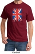 Union Jack Shirt British UK Flag Big Print Adult T-shirt