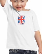 Union Jack Shirt British UK Flag Small Print Toddler T-shirt