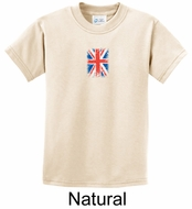 Union Jack Shirt British UK Flag Small Print Youth T-shirt
