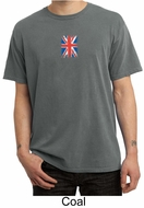 Union Jack Shirt UK Flag Small Print Adult Pigment Dyed T-shirt