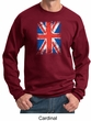 Union Jack Sweatshirt British UK Flag Big Print Adult Sweat Shirt