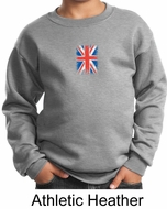 Union Jack Sweatshirt British UK Flag Small Print Youth Sweatshirt