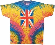 Union Jack Tie Dye Shirt Woodstock T-Shirt