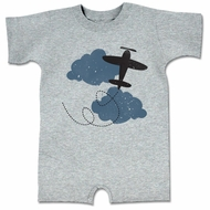 Up In The Air Funny Baby Romper Gray Infant Babies Creeper
