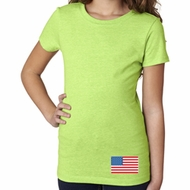 US Flag Bottom Print Girls Shirt
