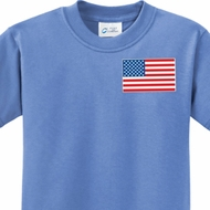 US Flag Pocket Print Kids Shirt