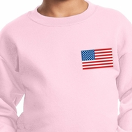 US Flag Pocket Print Kids Sweatshirt