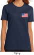 US Flag Pocket Print Ladies Organic Shirt