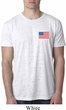 US Flag Pocket Print Mens Burnout Shirt
