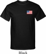 US Flag Pocket Print Mens Tall Shirt