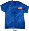 US Flag Pocket Print Mineral Tie Dye Shirt