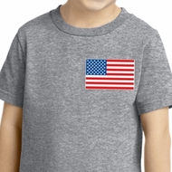 US Flag Pocket Print Toddler Shirt