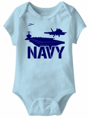 US Navy Funny Baby Romper Light Blue Infant Babies Creeper