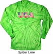 USA 3D Long Sleeve Tie Dye Shirt