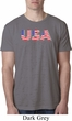 USA 3D Mens Burnout Shirt