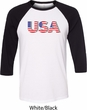 USA 3D Mens Raglan Shirt