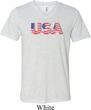 USA 3D Mens Tri Blend V-neck Shirt