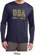 USA Home of the Brave Mens Dry Wicking Long Sleeve Shirt