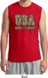 USA Home of the Brave Mens Muscle Shirt