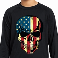 USA Skull Kids Dry Wicking Long Sleeve Shirt