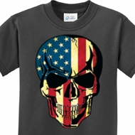 USA Skull Kids Shirt