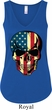 USA Skull Ladies Flowy V-neck Tank Top