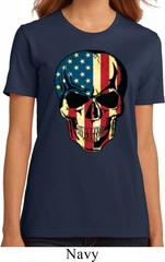 USA Skull Ladies Organic Shirt