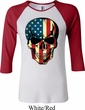 USA Skull Ladies Raglan Shirt